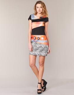Vêtements Femme Robes courtes Smash SERPENS Noir / Orange / Gris