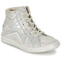 Chaussures Fille Baskets montantes GBB PRUNELLA Gris / Argenté