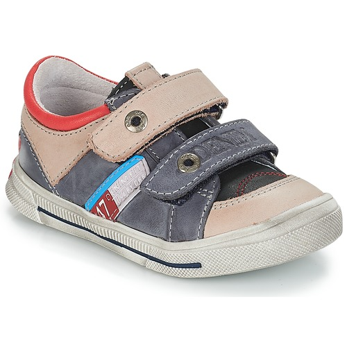 Chaussures Garçon Baskets basses GBB PHIL Gris / Bleu