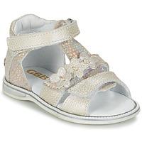 Chaussures Fille Sandales et Nu-pieds GBB PING Gris / Argenté