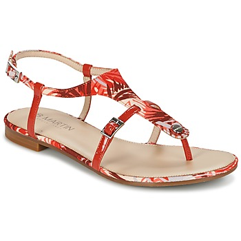 Chaussures Femme Sandales et Nu-pieds JB Martin GAELIA Rouge / Tropical
