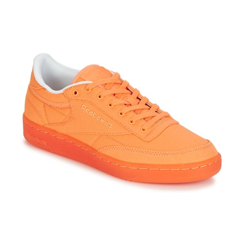 9dc1e92702cb9 Chaussures Femme Baskets basses Reebok Classic CLUB C 85 CANVAS Orange