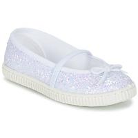 Chaussures Air max tnFille Ballerines / babies Chipie SALSABA Glitter / Blanc