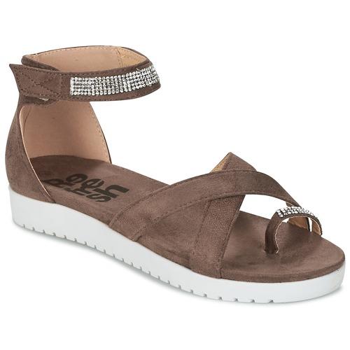 Refresh OURILICA Taupe - Livraison Gratuite avec  - Chaussures Sandale Femme