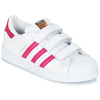 Chaussures Fille Baskets basses adidas Originals SUPERSTAR FOUNDATIO Blanc