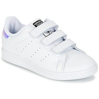 Chaussures Enfant Baskets basses adidas Originals STAN SMITH CF C Blanc