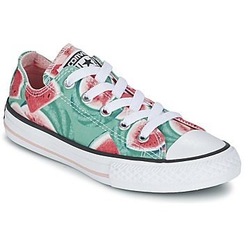 Chaussures Fille Baskets basses Converse CHUCK TAYLOR ALL STAR WATERMELON OX Vert / Rouge / Blanc