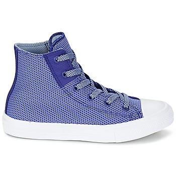 Converse CHUCK TAYLOR ALL STAR II BASKETWEAVE FUSE TD HI Indigo / Bleu / Blanc