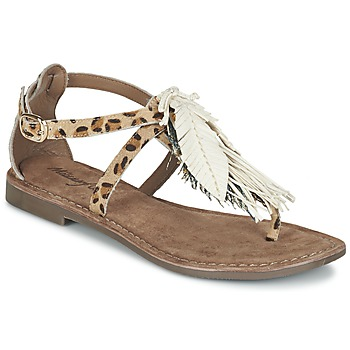 Chaussures Femme Sandales et Nu-pieds Metamorf'Ose ZABOUCHE Marron / Blanc