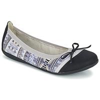 Chaussures Femme Ballerines / babies Les P'tites Bombes CAPRICE Gris / Noir