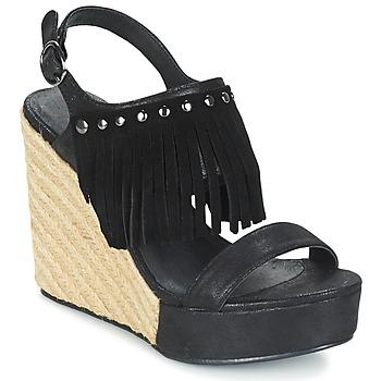 Chaussures Femme Sandales et Nu-pieds Les P'tites Bombes SABINE Noir