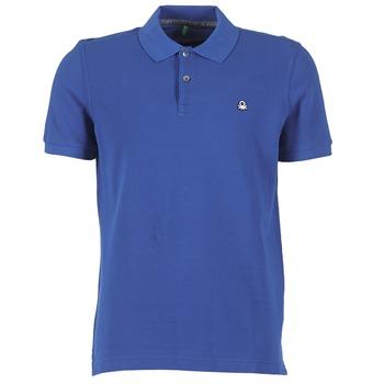 Vêtements Homme Polos manches courtes Benetton FOBIKA Bleu