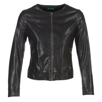 Vêtements Femme Vestes en cuir / synthétiques Benetton JANOURA Noir