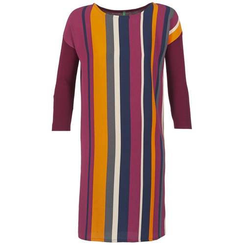 Vêtements Femme Robes courtes Benetton VAGODA Bordeaux / Multicolore