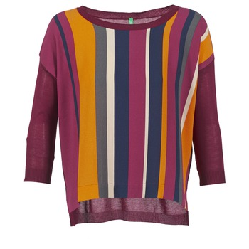 Vêtements Femme Pulls Benetton OVEZAK Bordeaux / Multicolore