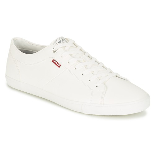 fb195eff60c39 Levi s WOODS Blanc - Chaussure pas cher avec Shoes.fr ! - Chaussures ...