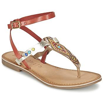 Chaussures Air max tnFemme Sandales et Nu-pieds Lola Espeleta ELODIE Rouge / Argenté