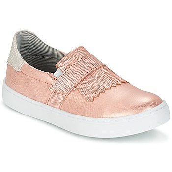 Chaussures Fille Slips on Bullboxer ADJAGUE Rose / Or