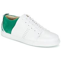 Chaussures Homme Baskets basses M. Moustache RENE Blanc / Vert