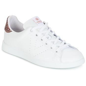 Chaussures Femme Baskets basses Victoria DEPORTIVO BASKET PIEL Blanc / Glitter