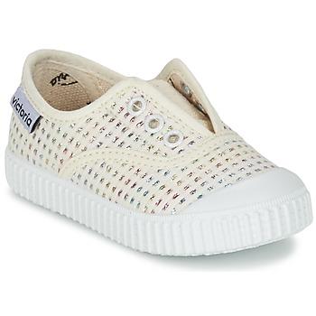 Chaussures Fille Baskets basses Victoria INGLESA LUREX ELASTICO Beige