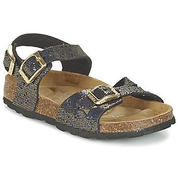 Chaussures Air max tnFille Sandales et Nu-pieds Betula Original Betula Fussbett JEAN Noir / Doré