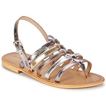 Chaussures Femme Sandales et Nu-pieds Les Tropéziennes par M Belarbi HERISSON Argent / Multicolore