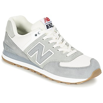 Chaussures Baskets basses New Balance ML574 Gris / Blanc