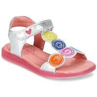 Chaussures Fille Sandales et Nu-pieds Agatha Ruiz de la Prada BIDINETTE Argent