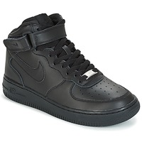 Chaussures Air max tnEnfant Baskets basses Nike AIR FORCE 1 MID 06 JUNIOR Noir