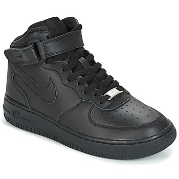 Chaussures Enfant Baskets basses Nike AIR FORCE 1 MID 06 JUNIOR Noir