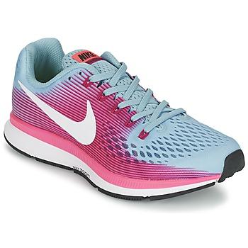 Chaussures Femme Running / trail Nike AIR ZOOM PEGASUS 34 Bleu / Fushia
