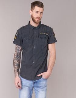 Vêtements Homme Chemises manches courtes Deeluxe BURTY Gris