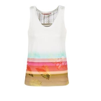 Vêtements Femme Débardeurs / T-shirts sans manche Desigual TEDERI Blanc / Multicolore