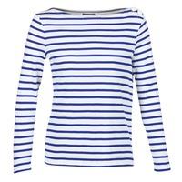 Vêtements Femme T-shirts manches longues Petit Bateau FIX Blanc / Bleu