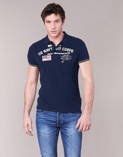 Vêtements Homme Polos manches courtes Schott ALEC Marine