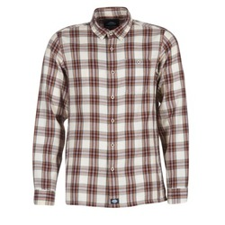 Vêtements Homme Chemises manches longues Dickies HARRELL Blanc / Marron