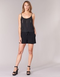 Vêtements Femme Combinaisons / Salopettes See U Soon 7191003 Noir
