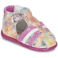 Chaussures Fille Sandales et Nu-pieds Babybotte GUPPY Rose / Multicolore