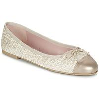 Chaussures Femme Ballerines / babies Pretty Ballerinas AMI Doré / Rose