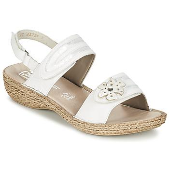 Chaussures Femme Sandales et Nu-pieds Rieker MIOLOI Blanc