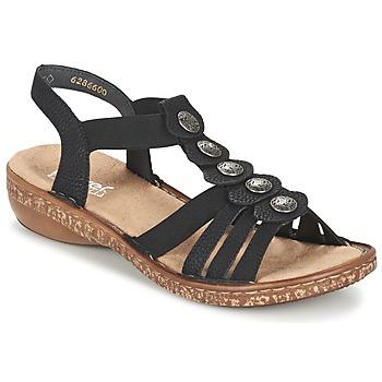 Chaussures Femme Sandales et Nu-pieds Rieker MECHAROLO Noir