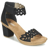 Chaussures Femme Sandales et Nu-pieds Rieker POTIRASSE Noir