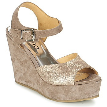 Chaussures Femme Sandales et Nu-pieds Myma RAPHIA Taupe