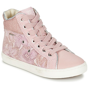 Chaussures Fille Baskets montantes Geox J KIWI G. H Rose