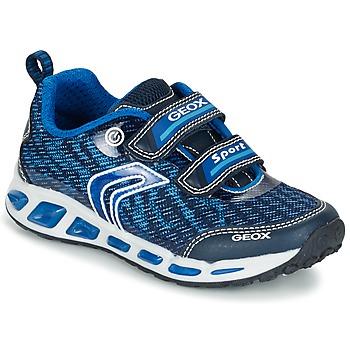 Chaussures Garçon Baskets basses Geox J SHUTTLE B.A Marine