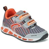 Chaussures Garçon Baskets basses Geox J SHUTTLE B.A Gris / Orange