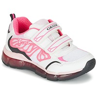 Chaussures Fille Baskets basses Geox J ANDROID G. A Blanc / Rose