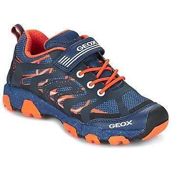 Chaussures Garçon Baskets basses Geox J MAGNETAR B. A Marine / Orange
