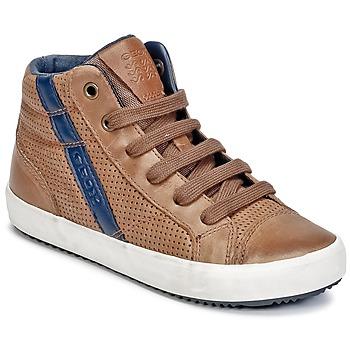 Chaussures Garçon Baskets montantes Geox J ALONISSO B. B Cognac